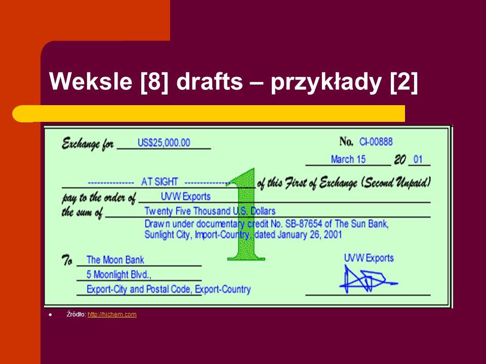 Weksle [8] drafts – przykłady [2]